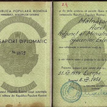 1958 Romanian diplomatic passort