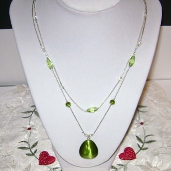 Pretty Double Strand Necklace - Costume Jewelry