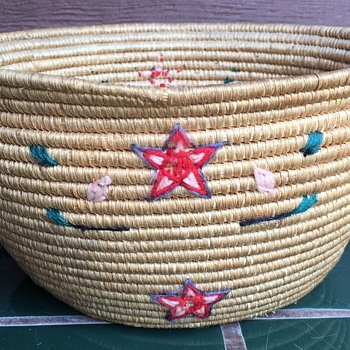 Small Basket with Thread Decoration - Native American