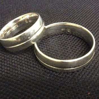 Pair of silver rings - Fine Jewelry