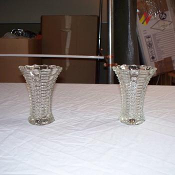 Twin Vases - Glassware