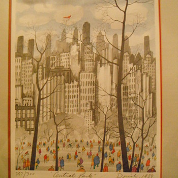 Central Park - John Dorish &amp;  Sumi-e  Ann White - Posters and Prints