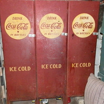 Old and maybe the original first coke machine made - Coca-Cola