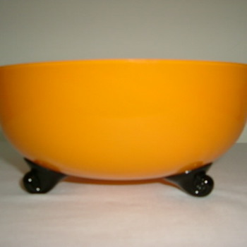 Czech Art Deco Tango Glass Bowl - Art Glass