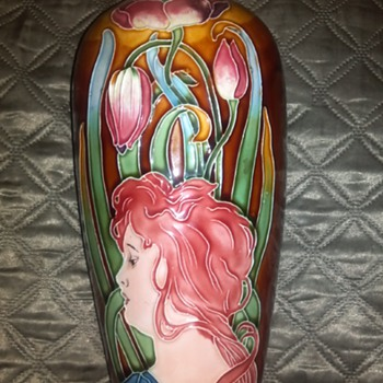 Majolica Lady - Art Pottery