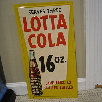 Lotta Cola embossed sign