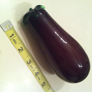 Vintage 1970's Murano Glass Eggplant - Art Glass