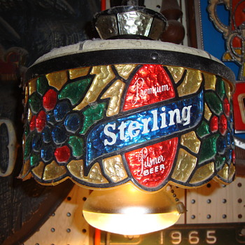 Sterling Beer Hanging Lamp Advertising Item.......