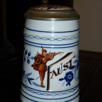 Faust German Beer Stein-  an image apppears when the beer has been consumed