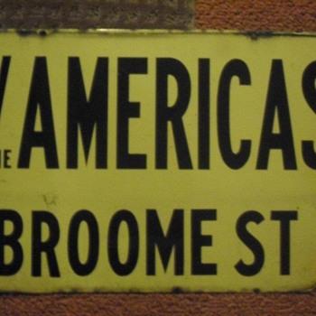 1950s Manhattan, N.Y. porcelain street sign