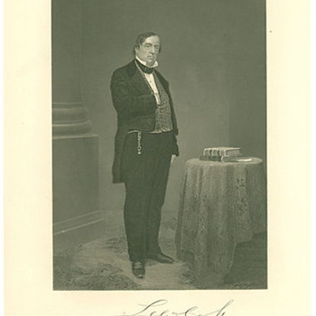 1862 Print Photograph of Lewis Cass