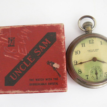 1928 Ingraham Uncle Sam Trade Mark  - Pocket Watches