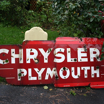 chrysler plymouth neon dealership sign