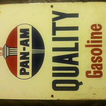 Pan-am one sided porcelain sign