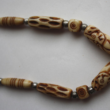 Carved bone necklace - asian? - Asian