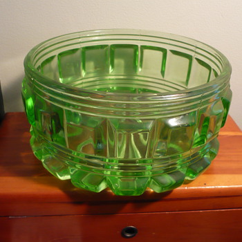 Another unusual depression glass piece~this time a Candy Dish