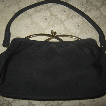 Vintage Garay Navy Blue Handbag,  ca. 1940s  - Bags