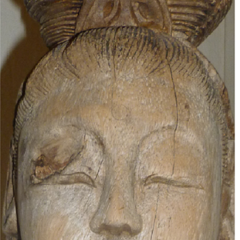 MY WOOD SCULPTURE OF GUAN YIN