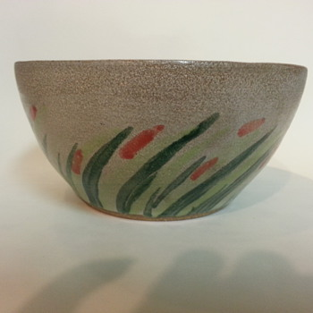 CACTUS ART BOWL - Art Pottery