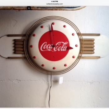 1948 Coca-Cola Clock With Kay Display Attachments