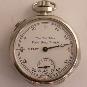 New Haven True Time Tellers Foot Ball Timer - Pocket Watches