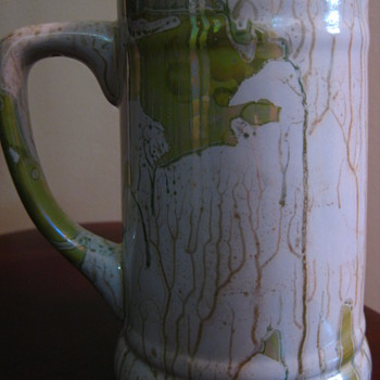 Metallic sheen pottery mug (Handdel) - Art Pottery