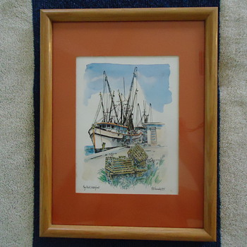 KEY WEST WATERFONT BY ROBERT KENNEDY...PRINT