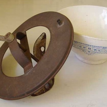 Unusual Mixing Bowl? Butter Maker?