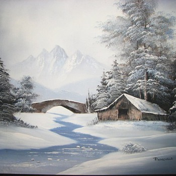 A winter painting by P. Woodville