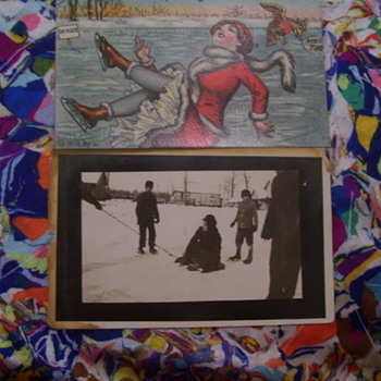 SKATERS DOWN ON THEIR FANNYS, REAL PHOTO & PHOTO POSTCARD - Photographs