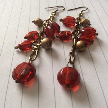 Vintage glass earrings - Costume Jewelry
