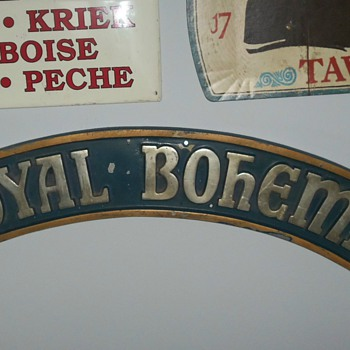 ROYAL BOHEMIAN BEER FACTORY SIGN DULUTH MN - Breweriana