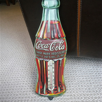 Coca Cola Christmas Thermometer 1930s - Coca-Cola