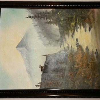 """16"""" X 20"""" painting by Henry Lew? - Visual Art"""