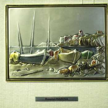 """Marina""""Paolo Rossini"""".935 Silver, XX Century - Visual Art"""