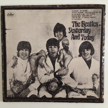 1960's Beatles Butcher Cover Silk Screen on Canvas - Music Memorabilia
