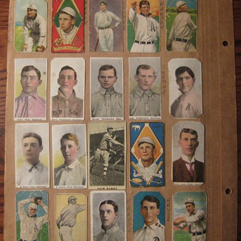 Antique baseball card scrapbook from the early 1900&#039;s - Baseball