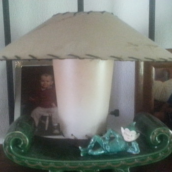 my favorite old lamp and shade