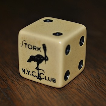 Stork Club die, late 1940s to early 1950s - Games