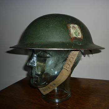 British WWII Home Guard steel helmet. - Military and Wartime