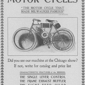 1902 Merkel Motor Bicycle Advertisement