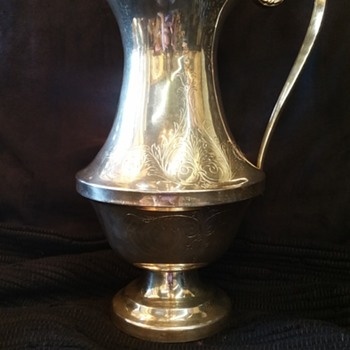 What I believe to be a coin silver water pitcher? Any help please!