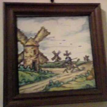 DON QUIXOTE TILE - Art Pottery