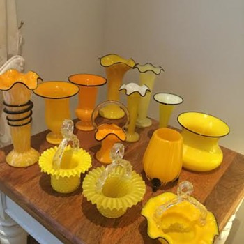Tango Yellows - various makers - Art Glass