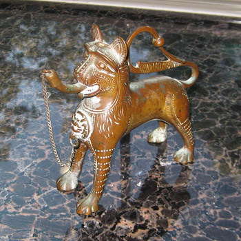 "Miniature repro of Seljak Lion Incense Burner ? 5.25"" X 5.25"" - Asian"