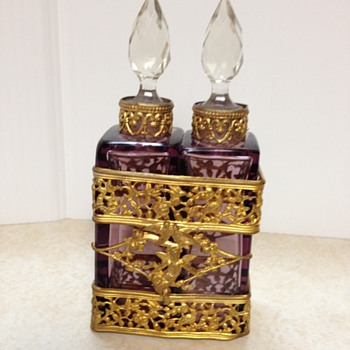 double scent bottles in holder