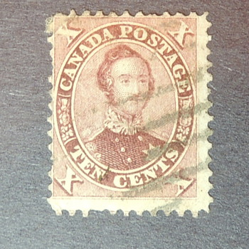1859 Canada Stamp - Ten Cents - Scott Number 17 - Stamps