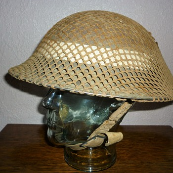 British WWII steel helmet D-Day