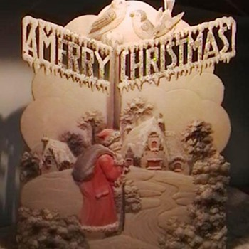 Early 1900's Standup Christmas Decoration  - Christmas