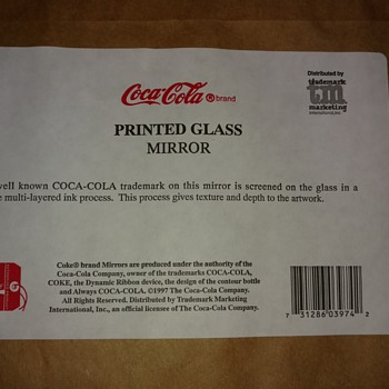 Coca Cola Printed Glass Mirror